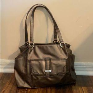Awesome Franco Sarto Gold Faux Leather Bag